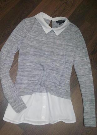 Кофточка джемпер свитер с воротником