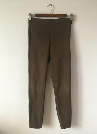 Шоколадные коттоновые брюки h&m