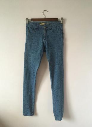Skinny джинсы с узором denim co
