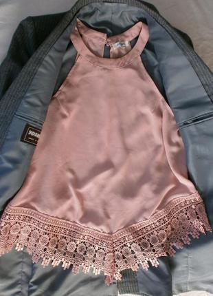 Блуза с кружевом/блуза/шифоновая блуза