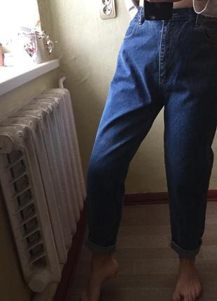 Джинсы мом  штаны мом брюки