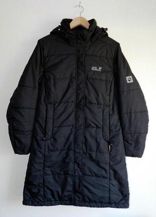 Куртка удлиненная теплая jack wolfskin размер 18/20 xxxl