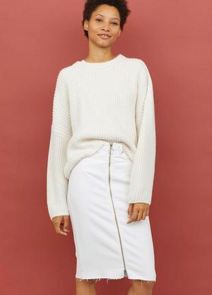 Красивый молочный свитер кофта джемпер свитшот