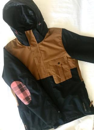 Зимняя спортивная лыжная термо непромокаемая куртка для активного отдыха