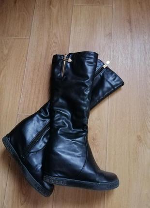 Зимние чёрные сапоги 38 размера
