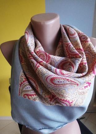Платок тонкий шарф накидка турецкий огурец хустинка