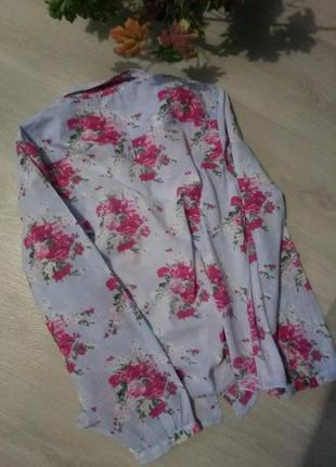 Брендовая рубашка цветочный принт denim co3