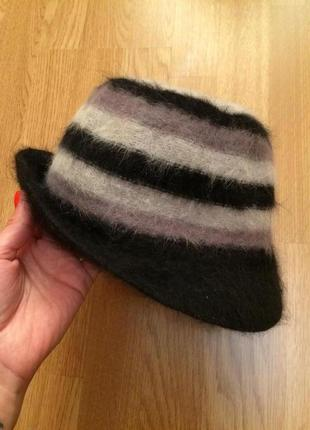 Фирменная теплая шапка(ангора),шляпка accessorize,теплая шапочка+подарок