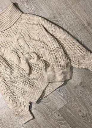 Супер классный свитер в косы в стиле оверсайз
