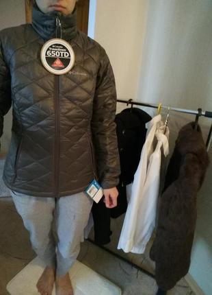 Columbia демисезонная куртка пух перо