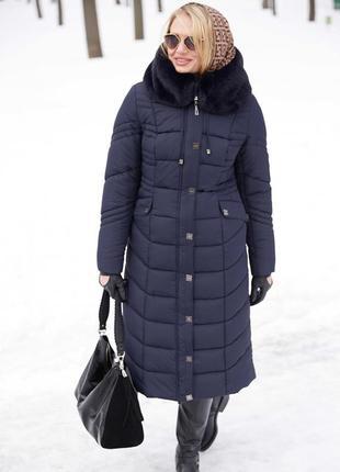 Зимнее пальто с мутоном дайкири 3, разные цвета, большие размеры