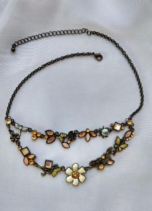 Винтажное колье ,ожерелье,украшение на шею1