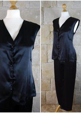 Шикарный атласный комплект пижама pierre cardin