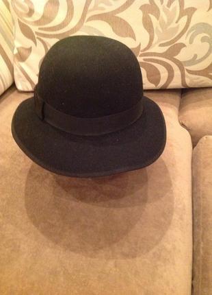 Модная шляпка 100% шерсть. размер 52-54 см