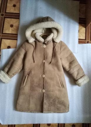 Натуральная дубленка пуховик шуба куртка зимняя с мехом