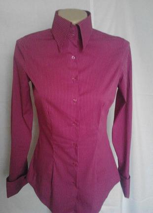 Люкс бренд,шикарная рубашка,запонки,высокий ворот,стиль и качество англия