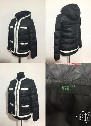 Фирменная, базовая куртка, облегчённый пуховик, капюшон отстёгивается (пух перо)