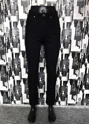 #460 отличные черные джинсы слим высокой посадки marks&spencer