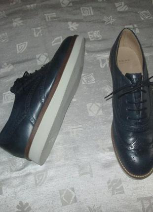 Кожаные оксфорды бренд frau туфли броги италия1 фото