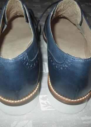 Кожаные оксфорды бренд frau туфли броги италия3 фото