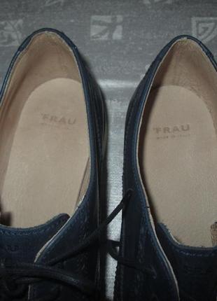 Кожаные оксфорды бренд frau туфли броги италия4 фото