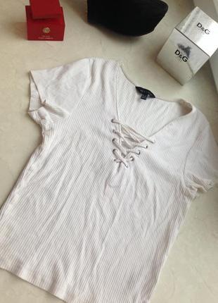 Белая футболка new look