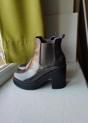 Лаковые ботинки сапоги ботильоны туфли