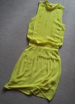 Фирменное платье вискоза цвет лимон состояние нового р 6-8
