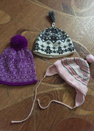 Три шапки за 100грн