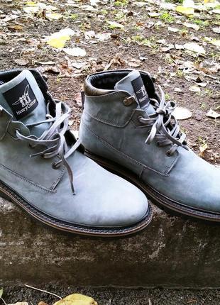 Мужские ботинки итальянского бренда henry cotton' натуральный нубук 42 43 28см