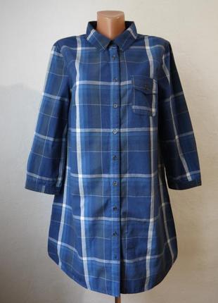 Хлопковое платье рубашка туника