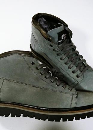 Мужские ботинки итальянского бренда henry cotton's натуральный нубук 42 43 28см