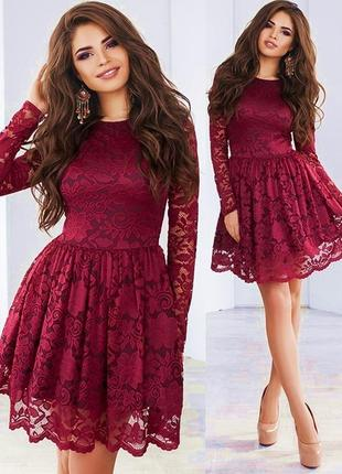 Шикарное винное платье (есть размеры и расцветки)
