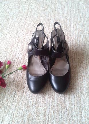 Черные закрытые босоножки next sole reviver, 39р