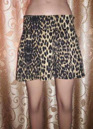Стильная леопардовая юбка-шорты influence!