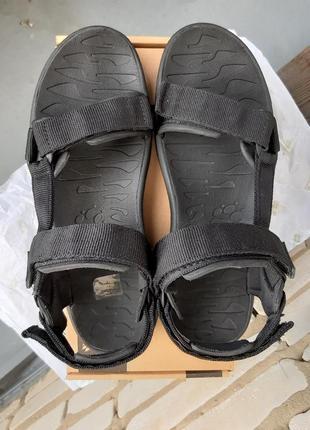 Сандалии jack wolfskin 42 (27 см.) сандалі, черный