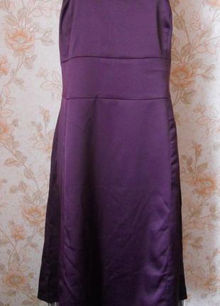 Идеальное,вечернее платье. фиолетового цвета. на бирке- 1х р-р(50-52)