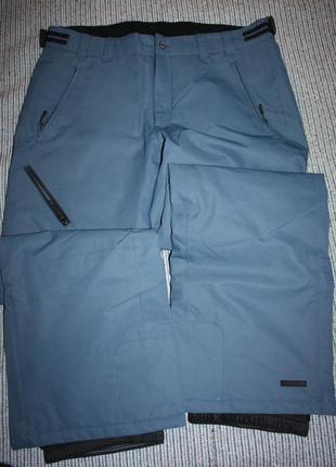 Термобрюки сноуборд /гл icepeak xl(54) новые. бледно серо-голубые.