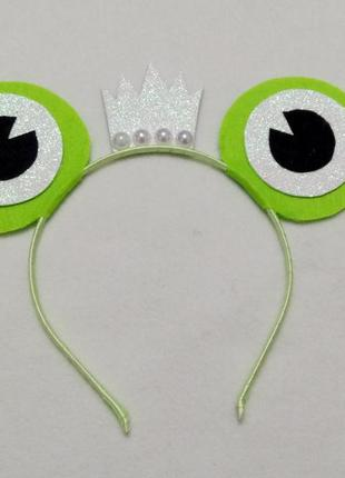 Обруч к карнавальному костюму царевна лягушка на девочку