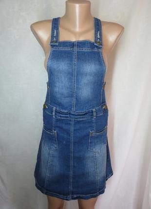Стильный джинсовый сарафан комбез