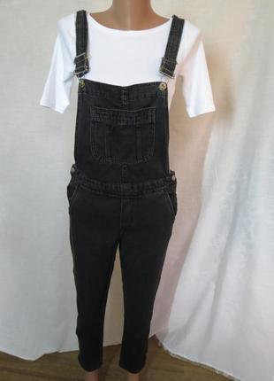 Стильный черный джинсовый комбез / комбинезон от h&m