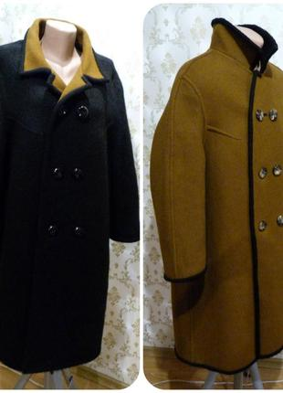 Очень теплое пальто из альпаки. зима.