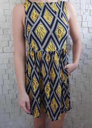 Красочное платье с карманами topshop