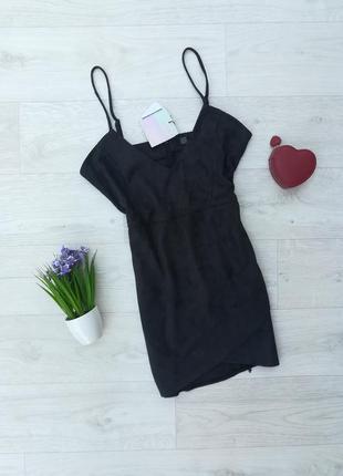 Стильное черное платье missguided
