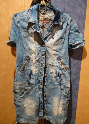 Джинсовое платье cash jeans