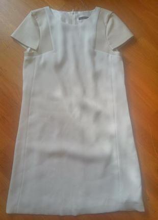 Платье zara basic m- l с кожзамом