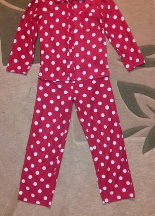Пижама флисовая 9-10 лет