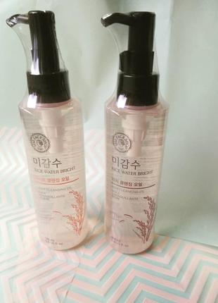Гидрофильное масло от the face shop rice water bright