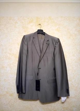 Серый с отливом  костюм