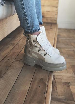 Puma rihanna fenty boots cream пума риана